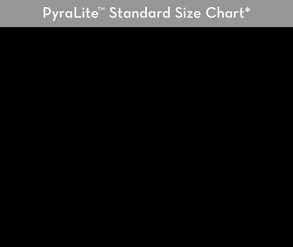 PyraLite - Standard Size Chart