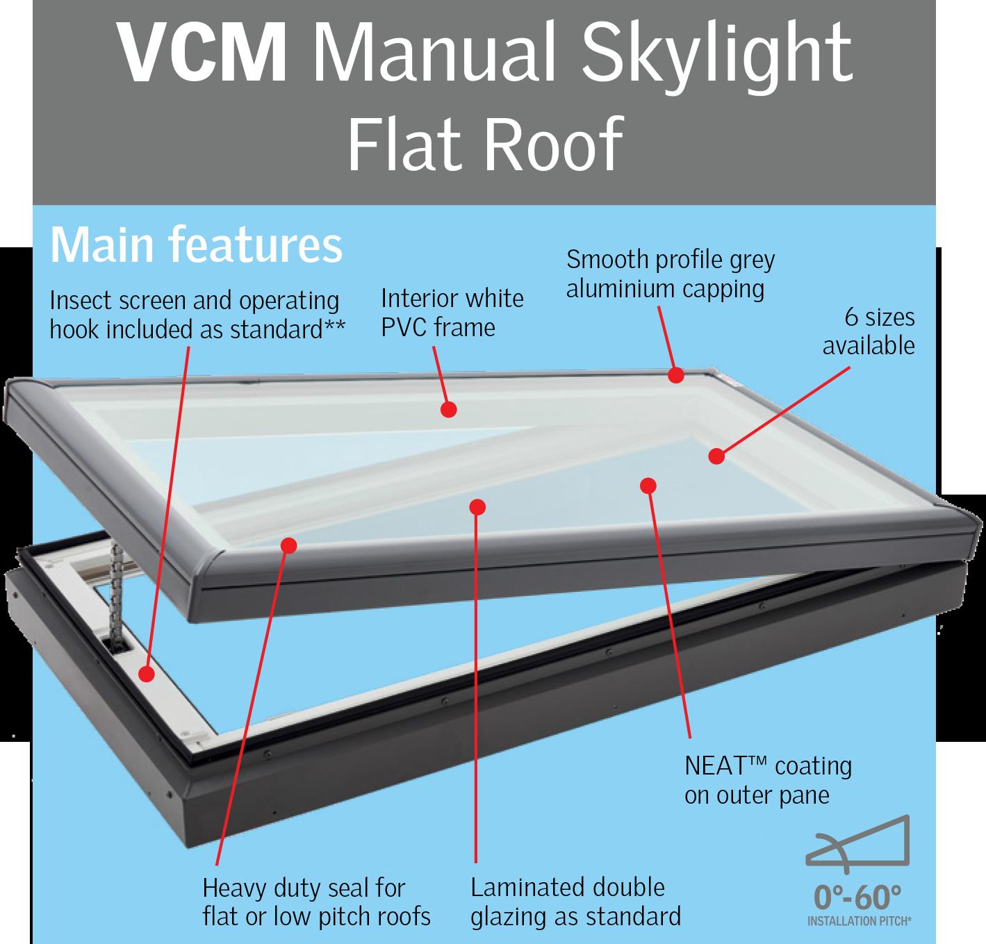 VCM-Manual-Skylight-Flat-Roof