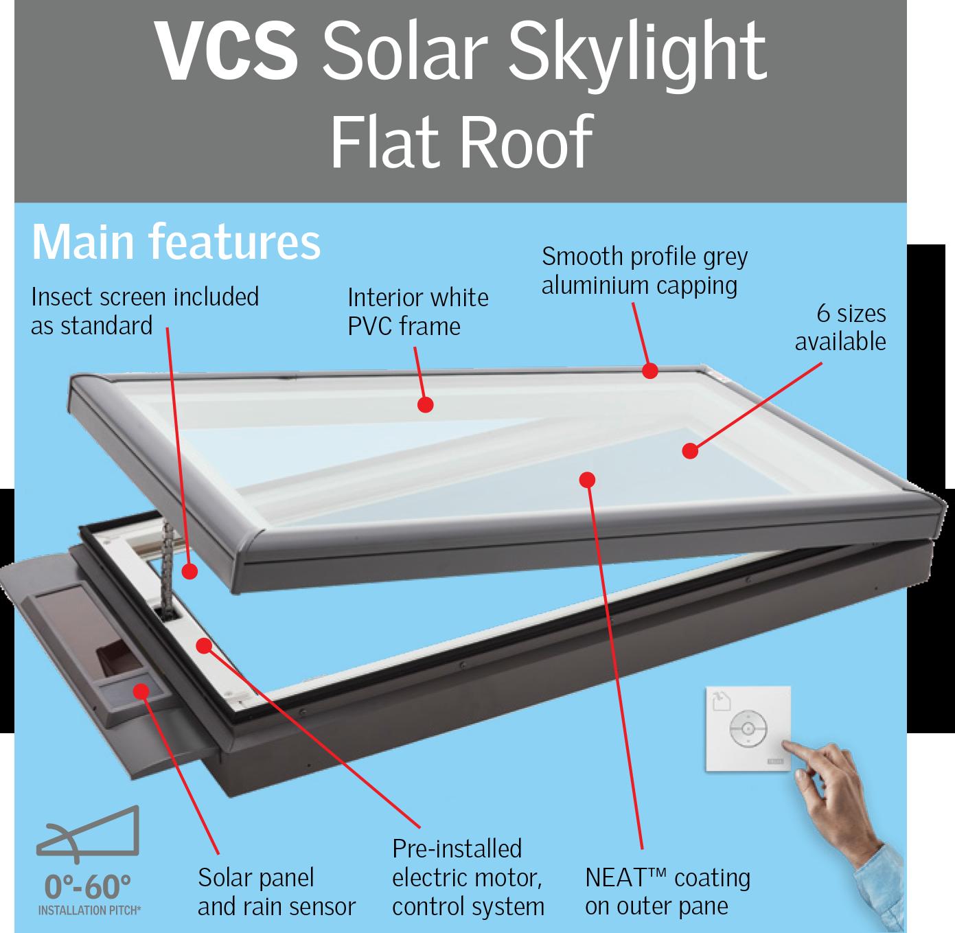 VCS-Solar-Skylight-Flat-Roof